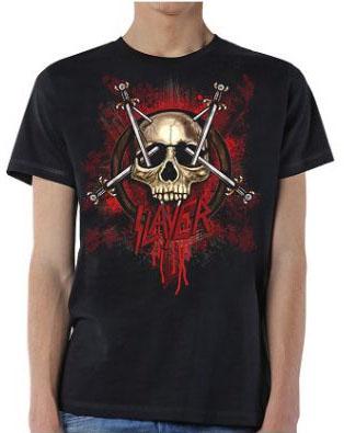 Slayer- Skull Pentagram on a black shirt