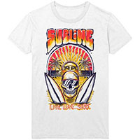 Sublime- Live Love Surf on a white ringspun cotton shirt