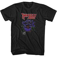 Thin Lizzy- Black Rose on a black ringspun cotton shirt (Sale price!)