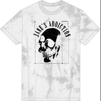 Jane's Addiction- Skull on a treated white ringspun cotton shirt