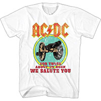 AC/DC- For Those About To Rock on a white shirt