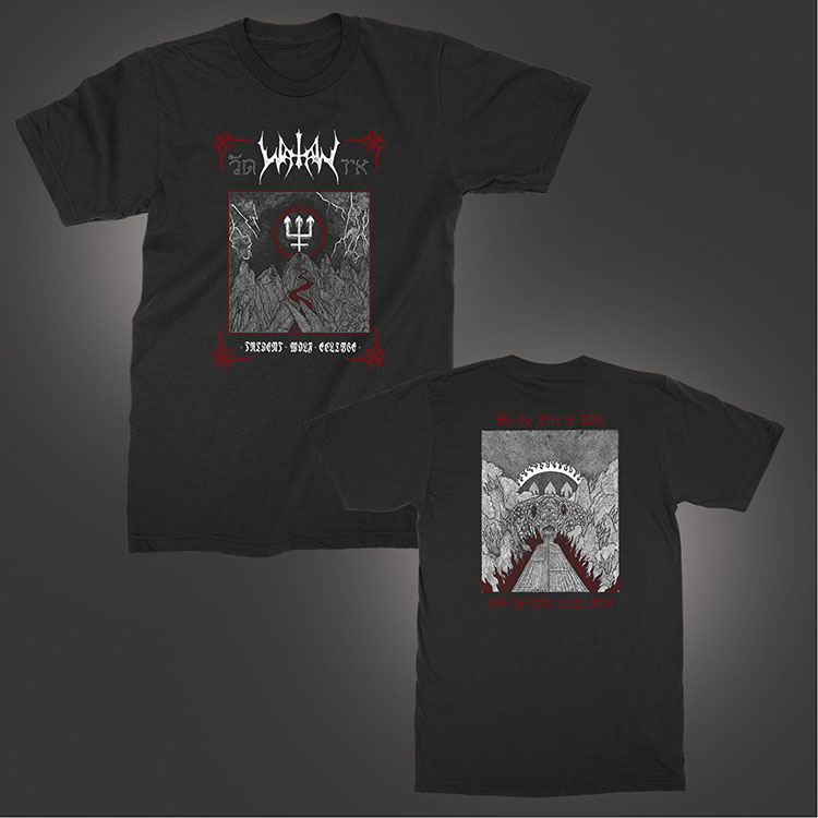 Watain- Wolf Trident on front & back on a black shirt