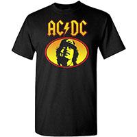 AC/DC- Oval Angus on a black shirt
