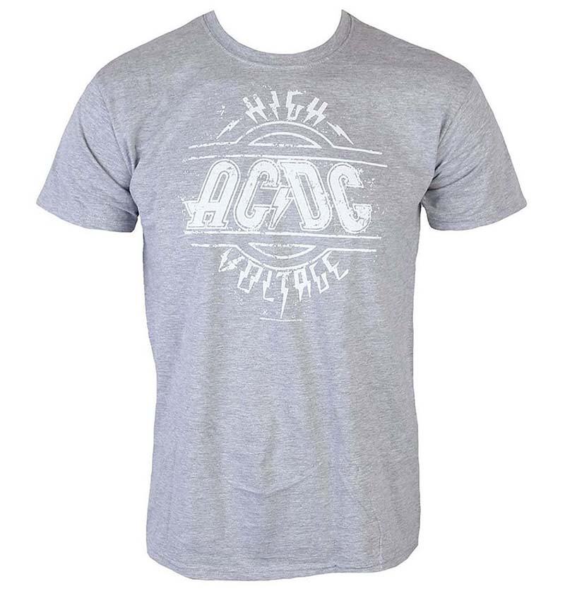 AC/DC- High Voltage on a grey shirt