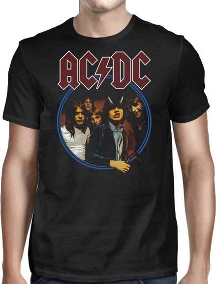 AC/DC- Highway To Hell Circle Pic on a black shirt (Sale price!)