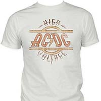 AC/DC- High Voltage on a vintage white ringspun cotton shirt
