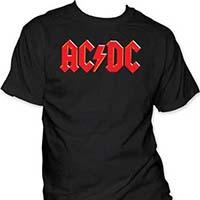 AC/DC- Logo on a black shirt