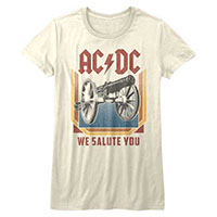 AC/DC- We Salute You on a vintage white girls shirt
