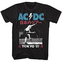 AC/DC-Tokyo '81 on a black ringspun cotton shirt