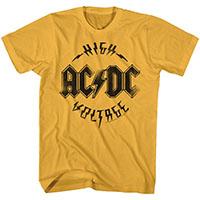 AC/DC- High Voltage on a ginger ringspun cotton shirt