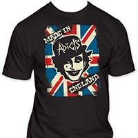 Adicts- Made In England on a black ringspun cotton shirt