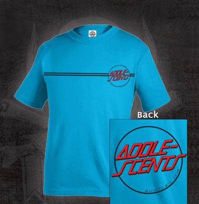 Adolescents- Santa Cruz Logo on front & back on a blue shirt (Sale price!)