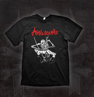 Adolescents- Big Wheel on a black ringspun cotton shirt (Sale price!)