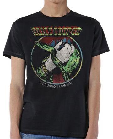Alice Cooper- Generation Landslide on a black shirt