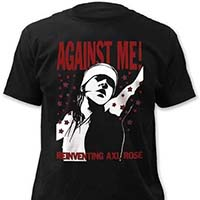 Against Me!- Reinventing Axl Rose on a black ringspun cotton shirt