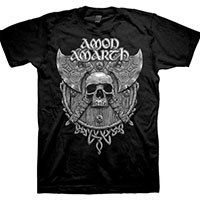 Amon Amarth- Skull & Axes on a black shirt