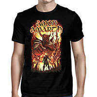 Amon Amarth- Oden Wants You on a black shirt
