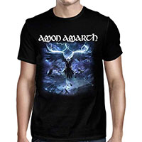 Amon Amarth- Raven's Flight on a black shirt