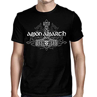 Amon Amarth- Hammered In Denver 2019 on a black shirt