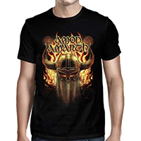 Amon Amarth- War Helmet 2019 North American Tour on a black shirt