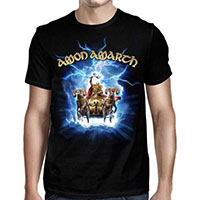 Amon Amarth- Thor Crack The Sky on a black shirt
