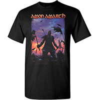 Amon Amarth- We Will Never Die on a black shirt