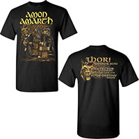 Amon Amarth- Oden's Son on front & back on a black shirt