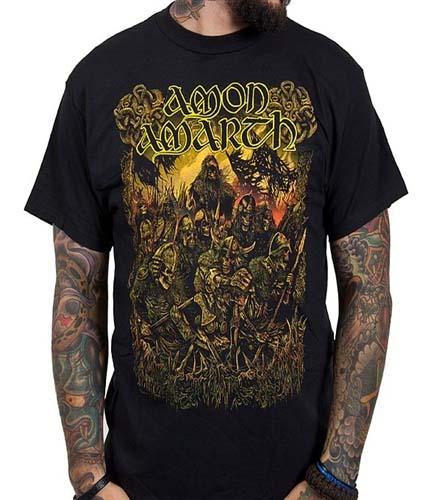 Amon Amarth- Loki on a black shirt