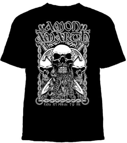 Amon Amarth- Bearded Skull on a black shirt