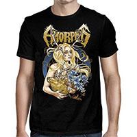 Amorphis- Golden Elk on a black shirt