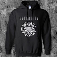 Antischism- Bird on a black hooded sweatshirt