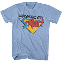 Army Of Darkness- Shop Smart, Shop S-Mart on a light blue ringspun cotton shirt