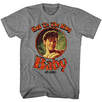 Army Of Darkness- Hail To The King, Baby on a graphite heather ringspun cotton shirt