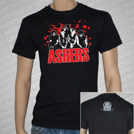 Ashers- Band Pic on a black shirt (Sale price!)