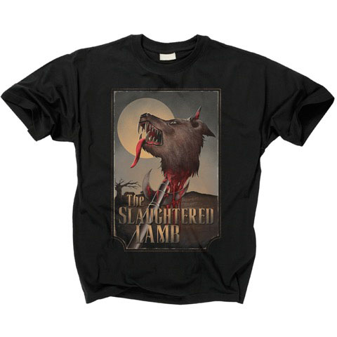 Slaughtered Lamb on a black shirt (American Werewolf In London)