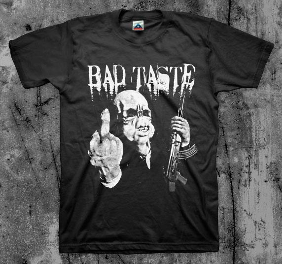 Bad Taste- Finger on a black shirt