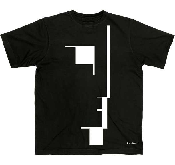 Bauhaus- Large Face on a black ringpun cotton shirt