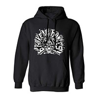 Broken Bones- Skull on a black hooded sweatshirt