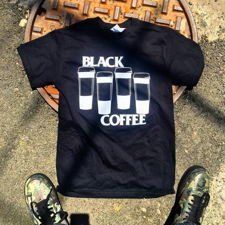 Black Coffee Shirt by Bort's Pin Emporium - Unisex on Black
