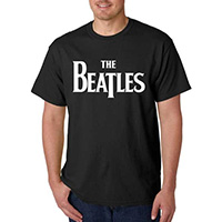 Beatles- Logo on a black shirt