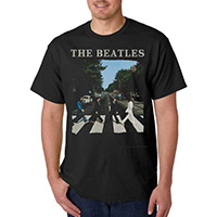 Beatles- Abbey Road on a black shirt