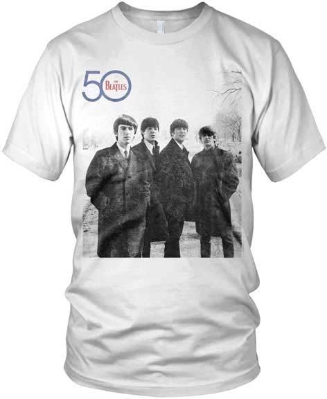 Beatles- 50th Anniversary (Band Pic) on a white shirt (Sale price!)