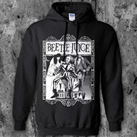 Beetlejuice- Cover on a black hooded sweatshirt
