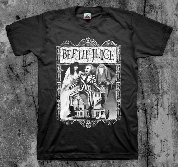Beetlejuice- Cover on a black shirt