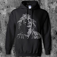 Beetlejuice- Face on a black hooded sweatshirt