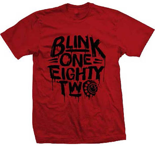 Blink 182- Logo on a red shirt