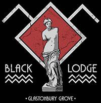 Black Lodge (Twin Peaks) on a black shirt