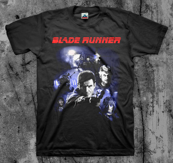 Blade Runner- Collage on a black shirt