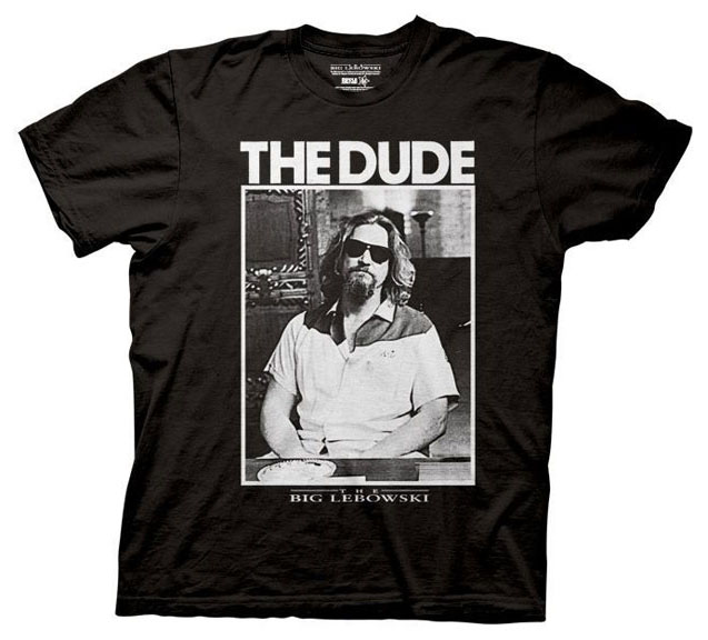 39a69d643c5d Big Lebowski- The Dude Photo on a black shirt