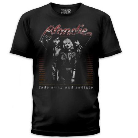 Blondie- Fade Away And Radiate on a black ringspun cotton shirt by Goodie Two Sleeves (Sale price!)